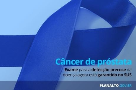 Detecção do câncer de próstata é obrigatório pelo SUS