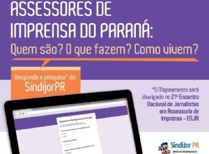 SindijorPR pesquisa status dos assessores de imprensa do estado