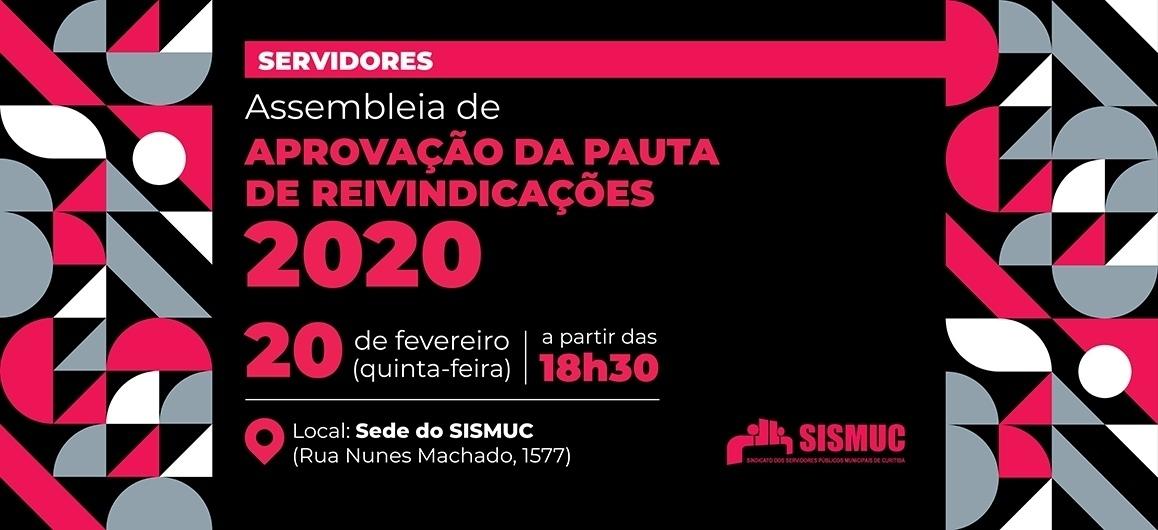 No dia 20, assembleia dos servidores define reivindicações da Campanha de Lutas 2020