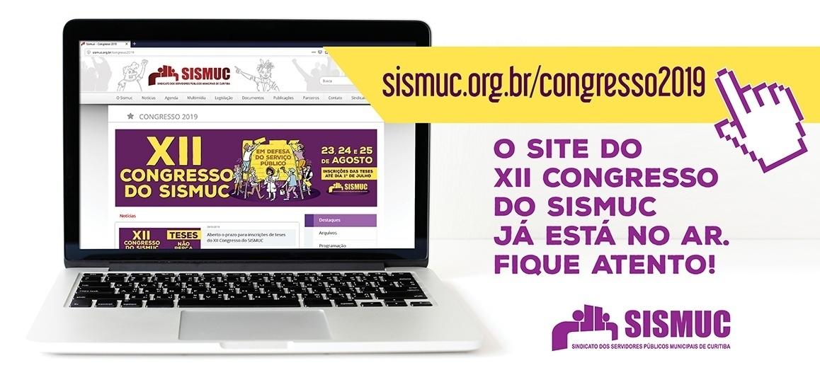 O Site do XII Congresso do SISMUC já está no ar, fique ligado!