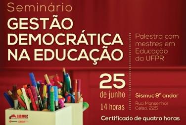 Seminário discute gestão democrática na Educação