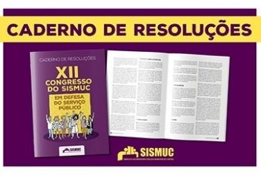 Já está disponível online o Caderno de Resoluções do XII Congresso do SISMUC