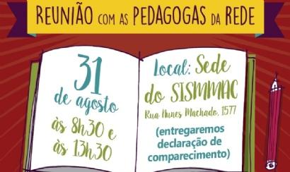 SISMMAC convida pedagogas para reunião no dia 31
