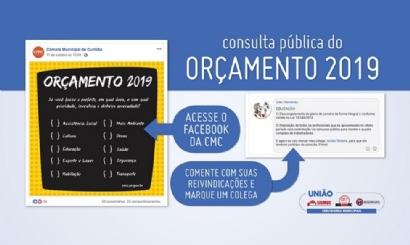 Participe da consulta pública para o orçamento de 2019