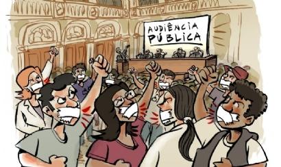 População e sindicatos não têm direito à fala em audiência na CMC