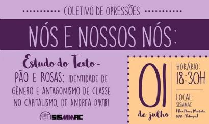 Participe do próximo Coletivo de Opressões no dia 1º de julho