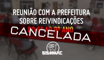 SME cancela reunião do 6º ao 9º ano
