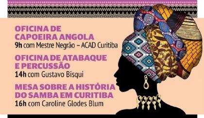 Oficina de capoeira, percussão e debate sobre samba nesta sexta (29)