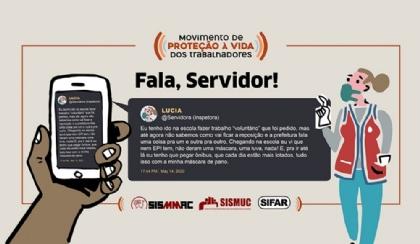 Fala, servidor: servidores da educação não recebem EPIs