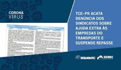 TCE acata denúncia dos sindicatos e suspende repasse a concessionárias