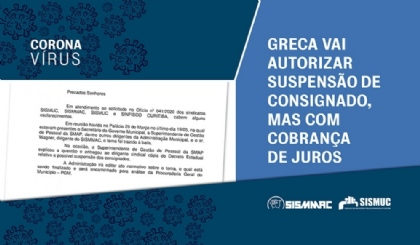 Greca vai autorizar suspensão de consignado, mas com cobrança de juros