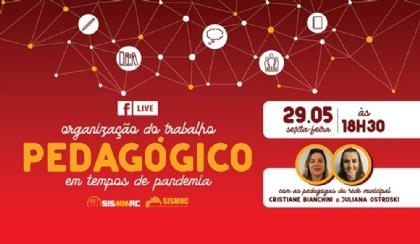 Live: organização do trabalho pedagógico em tempos de pandemia