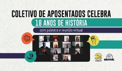 Coletivo de Aposentados celebra 18 anos com palestra e reunião virtual