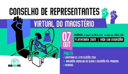 CR de outubro debate eleições e desafios da educação no pós-pandemia