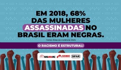 Das 13 mulheres assassinadas por dia no Brasil, oito são negras