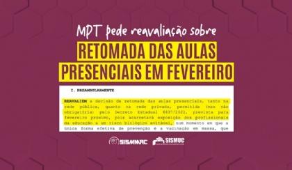 MPT pede reavaliação sobre retomada das aulas presenciais