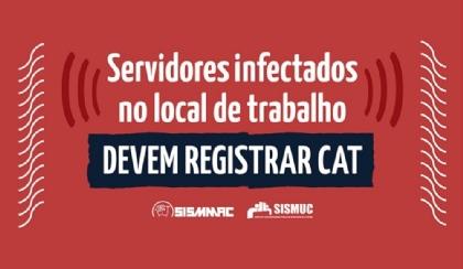 Servidores infectados no local de trabalho devem registrar CAT
