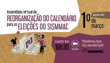 Assembleia definirá novo calendário para as eleições do SISMMAC