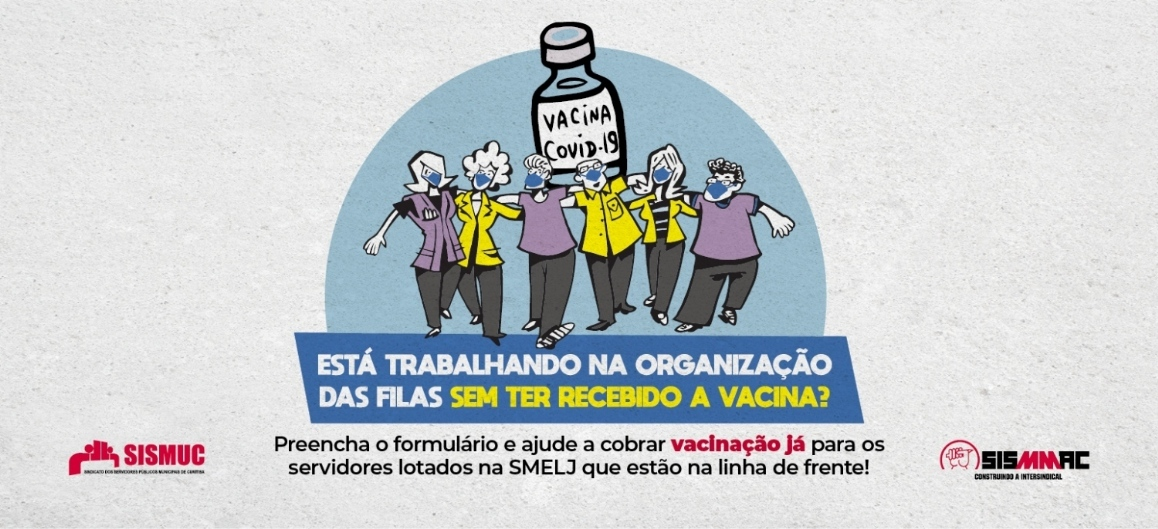 Servidores organizam filas da vacinação sem terem recebido vacina