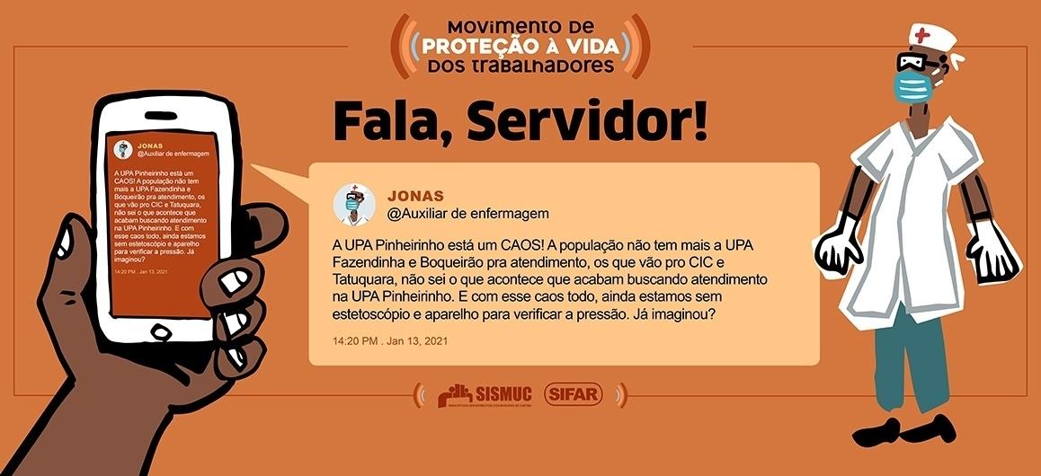Fala, Servidor: Na UPA Pinheirinho faltam equipamentos para aferir sinais vitais