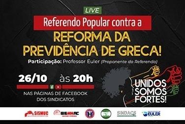 Live conjunta lança campanha de assinaturas para o referendo popular